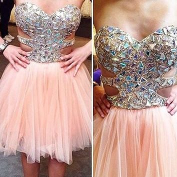 Beadings Sweetheart Homecoming Dress Fast Free Shipping