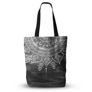 "Li Zamperini ""Black & White Mandala"" Gray Abstract Everything Tote Bag"