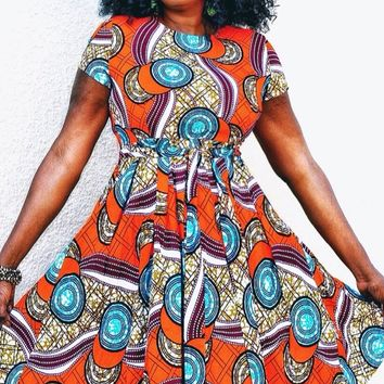 Chidi African Inspired Midi Dress