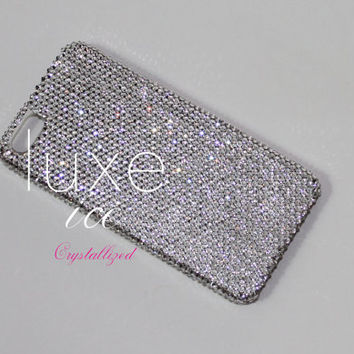 iPhone 5 case made w Swarovski Elements. Bling. 7ss (2mm) super tiny size crystals Crystal Clear color