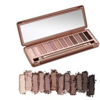 New NK 3 Professional Makeup Glitter Eye shadow Palette 12 Colors with brush