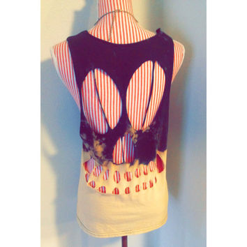 Dip Dyed Skull Cut Out Tank