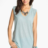 Rubbish Burnout Muscle Tee (Juniors) | Nordstrom