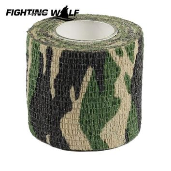 5CM X 4.5M Woodland Camo Rifle Gun Hunting Camouflage Stealth Tape Outdoor Military Airsoft Paintball Hunting Accessory