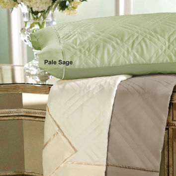 "Quilted Bamboo ""Sleep Cool"" Pillowcases in Ecru by Dreamfit"