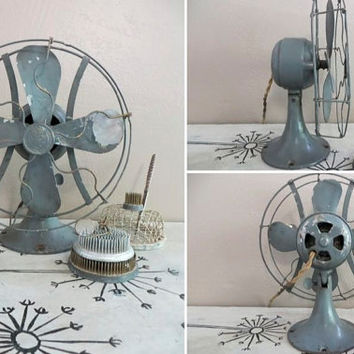 Vintage Fan Art Deco Fan Tilt Fan Metal Fan General Electric Fan Whiz Fan Rustic Fan Working Fan Desk Fan Small Fan Vintage Office 1920s