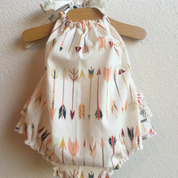 Little Arrows Baby Girl Romper