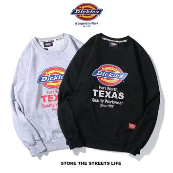 HCXX 19Aug 363 Dickies Printed Loose Version with velvet pullover sweater
