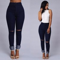 Denim Ripped Holes Strong Character Jeans = 5893091841