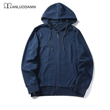 Men Hoodies Autumn Rinsed Denim Hats Jacket [259924164637]