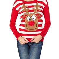 Dopey Reindeer Ugly Christmas Sweater