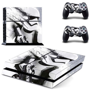 Star Wars White Knight Ps4 Skin Sticker Case Cover for Sony PlayStation 4 and For Two PS4 Controllers