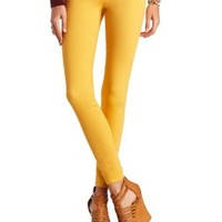 "Refuge ""Skin Tight Legging"" Colored Skinny Jeans - Mustard"