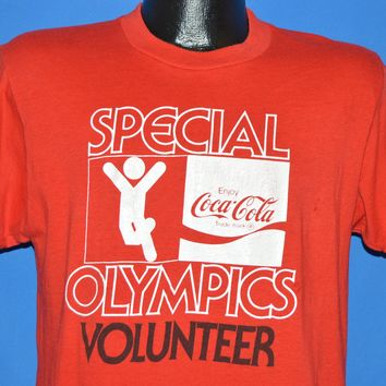 80s Coca Cola Special Olympics Volunteer t-shirt Medium
