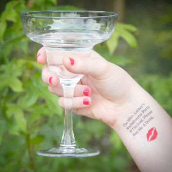 20 Bachelorette Tattoos - Bachelorette Party Temporary Tattoos - If I'm Lost, Please Buy Me A Drink