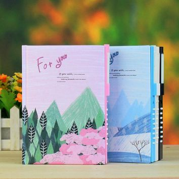 Mariyana Diary Book with Coded Lock Notebook Password Lock Notepad Cute Korea Stationery Children Agenda Secret Journal Diary