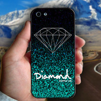 Diamond Supply Co Glitter Mint - Print on hard plastic case for iPhone case. Select an option