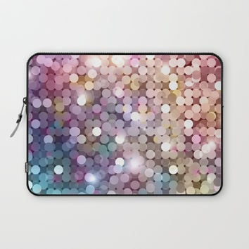Rainbow glitter texture Laptop Sleeve by printapix