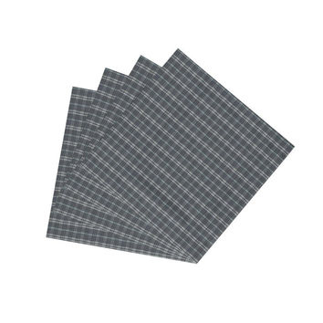 Light Blue Plaid Napkin Set of 4