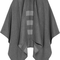 Burberry London - Checked merino wool cape