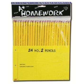 Pencils - 24 pack - No. 2 lead - CASE OF 48