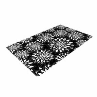 "KESS InHouse JG1072ADR02 Julia Grifol ""Black & White Garden"" Digital Vector Woven Area Rug, 4' X 6',,"