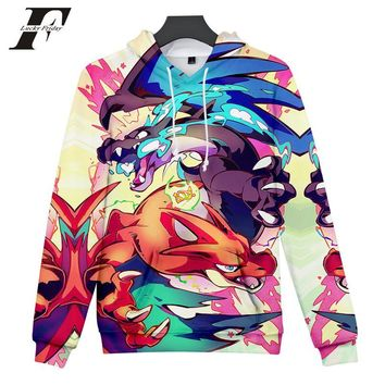 LUCKYFRIDAYF 2018  3D Print  Sweatshirts Harajuku Casual Hoodies Tide Cartoon Hoody Fashion High Street Hooded TopKawaii Pokemon go  AT_89_9