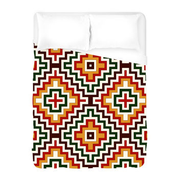 Bohemian Crown Duvet Cover