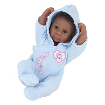 NPKDOLL Reborn Dolls Black Baby Boy Full Body Silicone Bebe Doll Open Eyes Children Birthday Gift Brinquedos