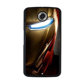 iron man face nexus 6 case cover  number 1