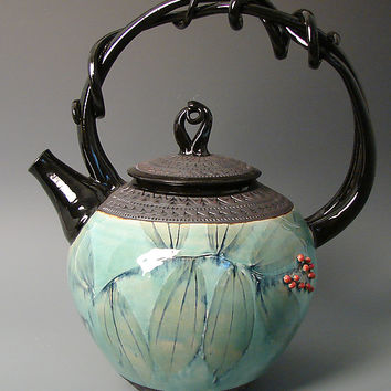 Giant Solomon's Seal Teapot by Suzanne Crane (Ceramic Teapot) | Artful Home