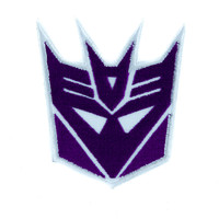 Decepticons Transformers Patch Iron on Applique Alternative Clothing Megatron