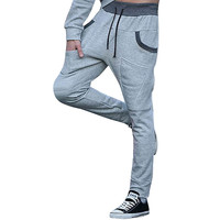 Stylish Tapered Joggers Light Grey