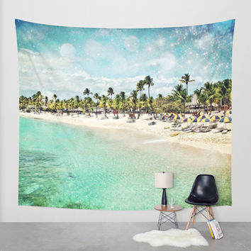 Paradisio Wall Tapestry by Jenndalyn
