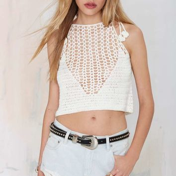 Glamorous Center Stage Crop Sweater