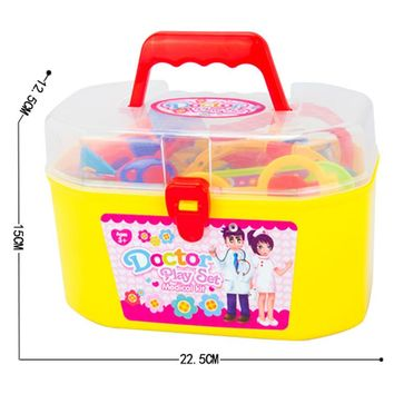 30PCS New Baby Kids Funny Toys Doctor Play Sets Simulation Medicine Box Doctor Toys Stethoscope Injections Children Gifts