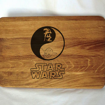 Star Wars Custom Engraved Cutting Board Anniversary Gift Newlywed Christmas Personalized Gift idea