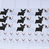 Set of 36 French Bulldog Stickers, Perfect for Planners and Scrapbooks!
