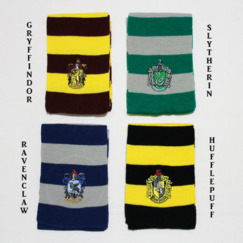 Harry Potter Scarf Gryffindor Slytherin Ravenclaw Hufflepuff