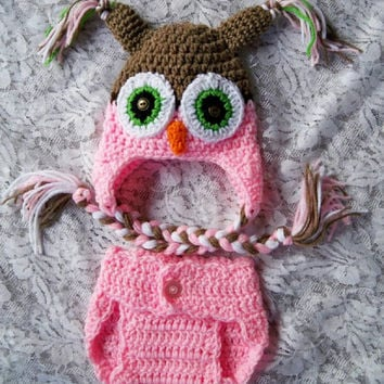 Free Crochet Owl Hat And Diaper Cover Pattern : Baby Owl Blanket - Crochet baby blanket- from ...