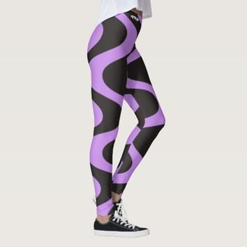 BLACK SWIRLS LIGHT PURPLE LEGGINGS HAVIC ACD
