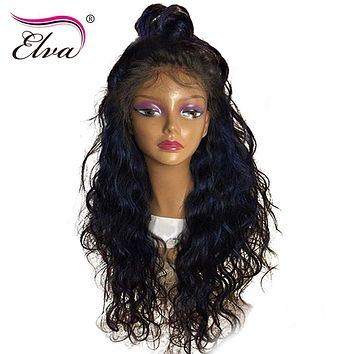 Elva Hair 250% Density 360 Lace Frontal Wigs Pre Plucked Hairline With Baby Hair Brazilian Remy Human Hair Wigs For Black Women