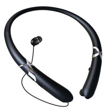 Crazybeat HX-965 Bluetooth Headphones Retractable Earbuds Neckband Wireless Headset Sport Sweatproof Earphones with Mic for IPho