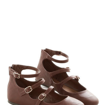 ModCloth Trolley Holiday Flat in Chestnut