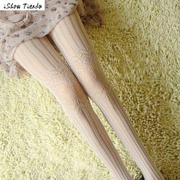 Women Stocking Serpentine Pattern Printing Net Fishnet Pantyhose Tights Stockings Chausettes Femme