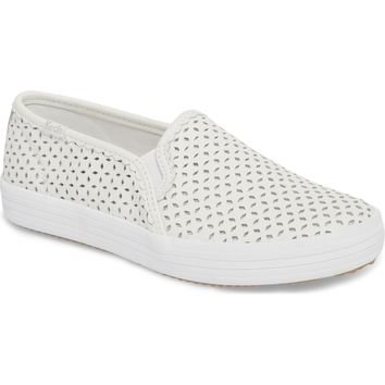 Keds® for kate spade new york perforated double decker slip-on sneaker (Women) | Nordstrom