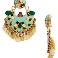 Gas Bijoux Eventail Statement Clip Earrings | Nordstrom