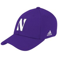 NCAA Northwestern Wildcats Flex Fit Hat, Small/Medium,purple