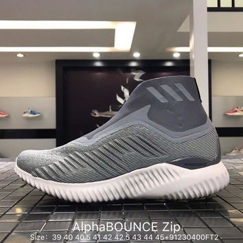 Adidas AlphaBOUNCE Zip Sneakers Running Shoes Size:39-45