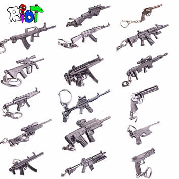 Riot Anime Crossfire cross fire weapon gun model Keychain weapons counter strike global offensive csgo cs go ak 47 Keyring 6cm
